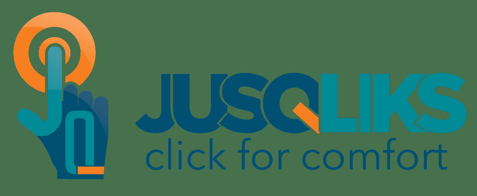 JusQliks - Click For Comfort logo
