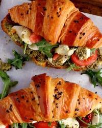 Caprese Croissant Breakfast Sandwich image