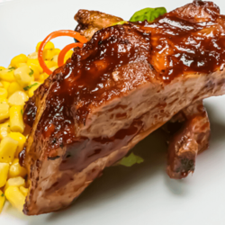 [Ready-toHeat] Pork Ribs Maple Glazed with Sauteed Loose Corn in Beurre Noisette  image