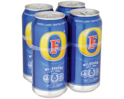 Fosters 440ml Cans 4 Pack image