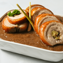 [Ready-to-Heat] Porchetta with Vinegar & Liver Sauce Reduction image