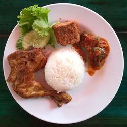 Set Ayam Goreng (Less Spicy) image