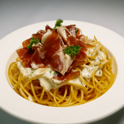 [Ready-to-Heat] Spaghettini with White Onion Cream & Italian Air Dried Cured Ham image