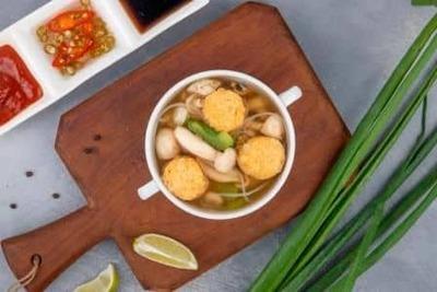 Tofu & Mushroom Glass Noodle Soup image