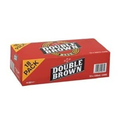 DB Double Brown Cans 18x330mL image