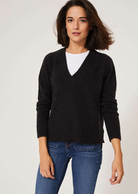 Fluffy Autumnal Jumper - Charcoal Grey image