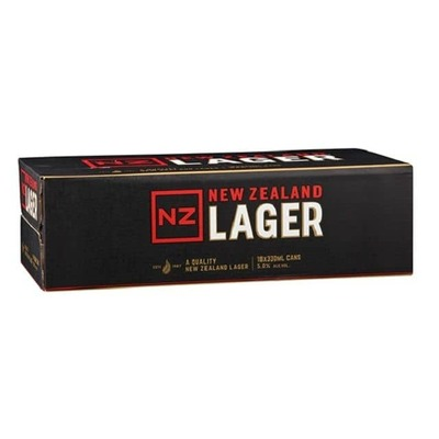 NZ Lager Cans 18x330mL image