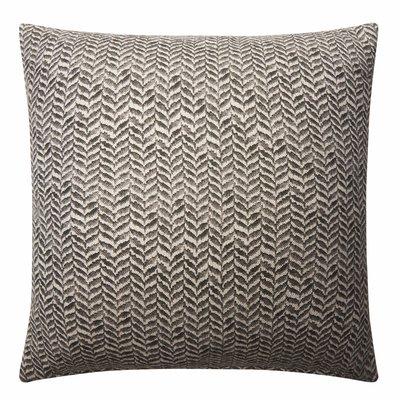 CHARCOAL Linen leaf 45cm cushion image