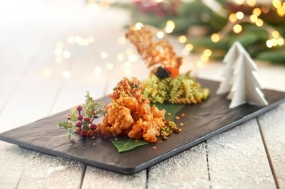 (U.P$40.66) Crisp-Fried Crayfish with Cold Wasabi Pasta  image