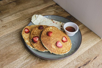 Eggs With Classic Pancake image