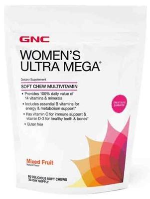 GNC WOMEN'S ULTRA MEGA SOFT CHEWS – MIXED FRUIT image