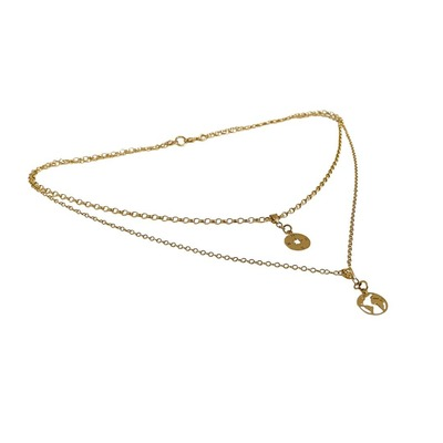 9-Carat Gold Double Layer Necklace image