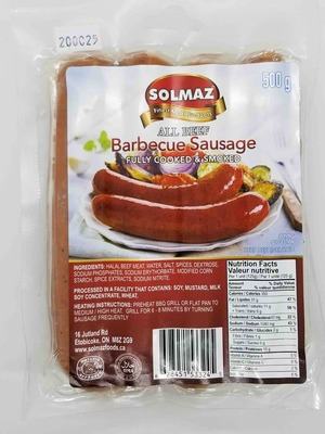Solmaz All Beef BBQ Sausage 500 g image