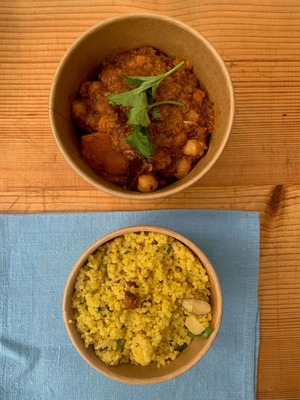Fragrant Moroccan chick pea & date tagine serves 2 image