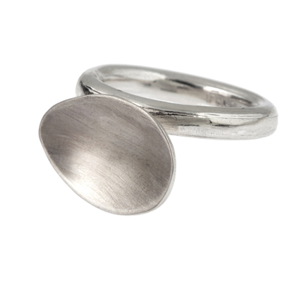 Tear drop ring made in silver image