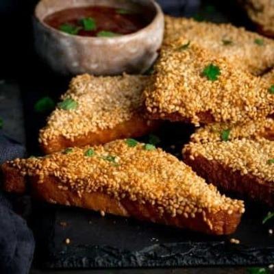 Sesame Prawn on Toast image