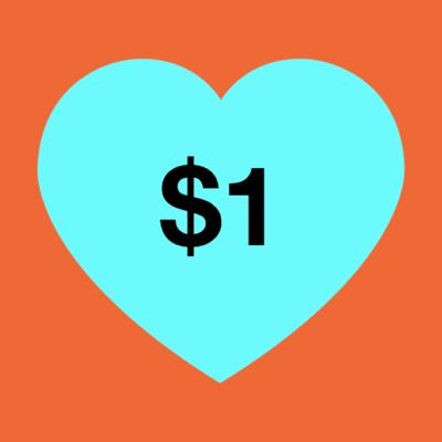 $1 Donation  image
