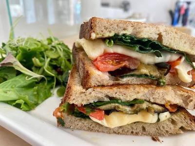Veggie toast image