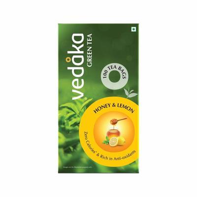 Vedaka Green Tea, Lemon and Honey, 100 Bags image