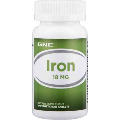 GNC IRON 18, 100ct image