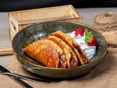Dulce De leche pancakes image
