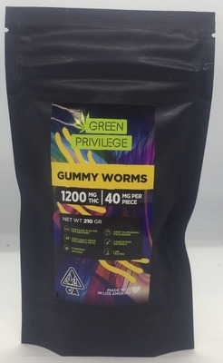 The Green Privilege: Gummy Worms 1200mg image