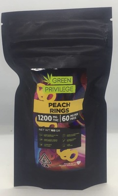 The Green Privilege: Peach Rings 1200mg image