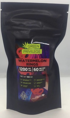The Green Privilege: Watermelon Rings 1200mg image