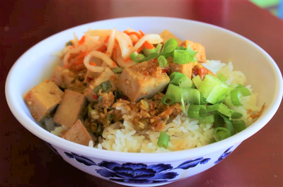 Sweet Garlic Tofu Rice Bowl image