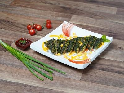 Spinach Corn Toast image