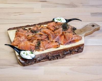 Saumon gravelax et crème ciboulette image