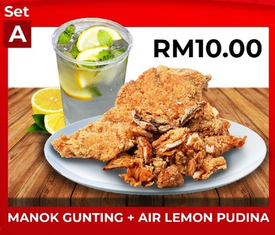 Set A Manok Gunting + Air Lemon Pudina image