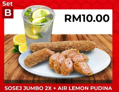 Set B Sosej Jumbo 2x + Air Lemon Pudina image