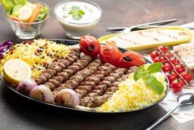 Mutton Kubideh Family Platter 500 gms (6 skewers) image