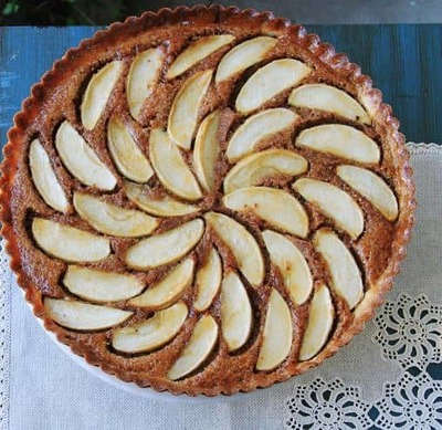 9in  Apple Frangipane Tart with Grand Marnier Glaze image