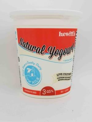 Hewitt's Natural Yogurt 750 g image