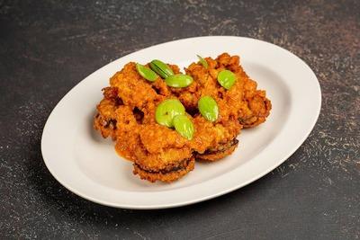 Fried Fish Roe with Chinchalok Sambal and Petai Beans image
