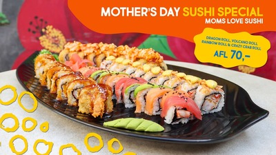 Mother's Day Sushi Platter (Afl. 70) image