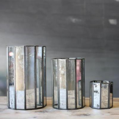 Mirrored Glass Tealight Holders and Lanterns image