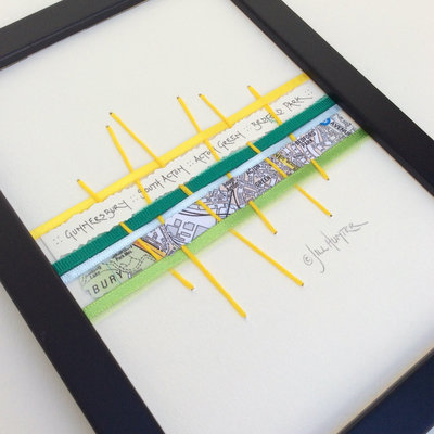 Chiswick Collection - Chiswick Neighbourhoods - A5 Framed Keepsake Gift - Chiswick Local Present - West London Present - Chiswick Map Detail image