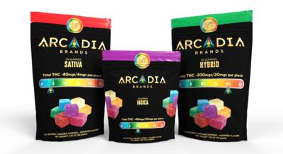 Arcadia (Indica) 80mg (4 Pack) - 20mg/piece - Blueberry Lemonade (Batch LAK_001) image