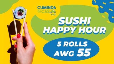 Sushi Happy Hour Deal (Afl. 55) image