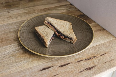 Grilled Sandwich with Peanut Butter & Jam image