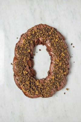 Chocolate Black and Gold King Cake image