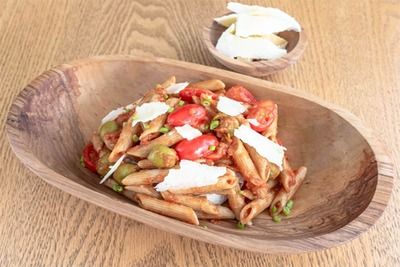 Whole Wheat Pasta with Tomato Sauce (Kcal)391,Fat (g)6,Carbs (g)78,Protein (g)15 image
