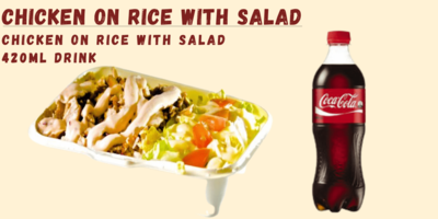 Chicken on Rice with Salad image