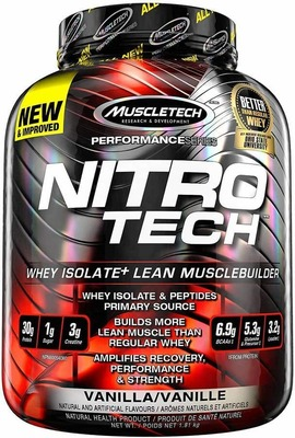 MUSCLETECH NITROTECH WHEY ISOLATE 4lb - 2 Flavours image