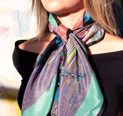 'Dragon' Pure Silk Scarf Limited Edition Print  image
