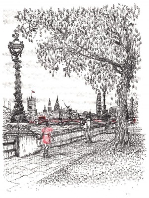 'Westminster from Lambeth' image