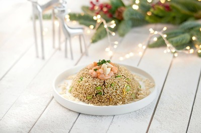 (U.P$52.22) Fried Rice with Assorted Diced Seafood and Black Truffle Sauce  image